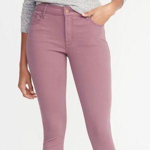 Old navy 24/7 pop color rockstar jeans lavender